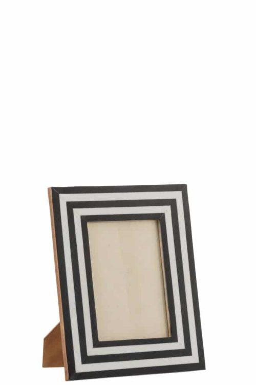 Portafoto 13X18 Legno/Vetro Nero/Bianco/Oro | Jolipa