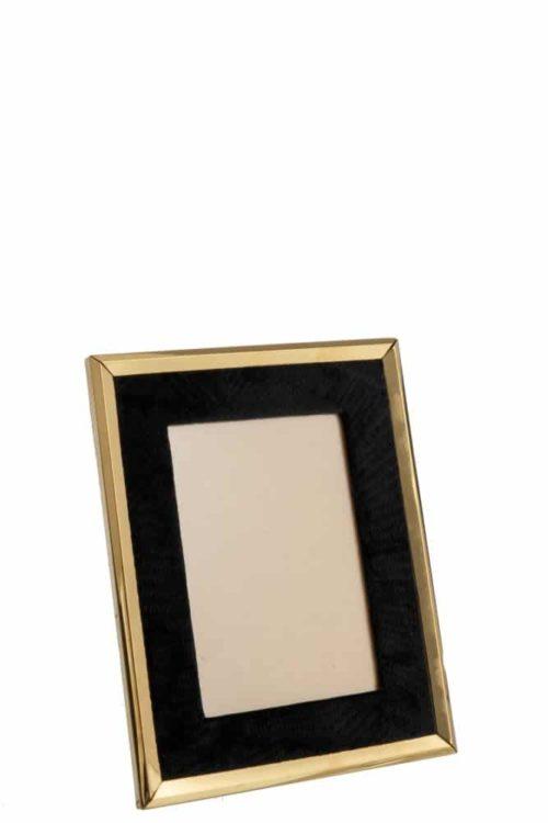 Portafoto Velluto Nero/Metallo Oro Large | Jolipa