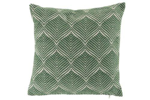 Cuscino Foglia Quadrato Poliestere Verde