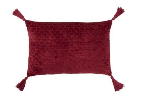 Cuscino Motivi Rettangolare Cotone Rosso Scuro | Jolipa