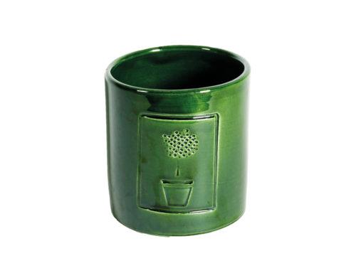 Caspò Piccolo Con Timbro Verde | Virginia Casa