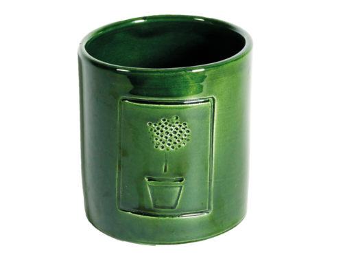 Caspò Medio Con Timbro Verde Rame | Virginia Casa