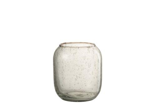 Vaso Bolle Vetro Trasparente (13.5×13.5x15cm)