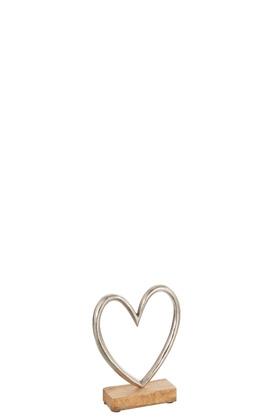Heart On Foot Aluminium Silver Small