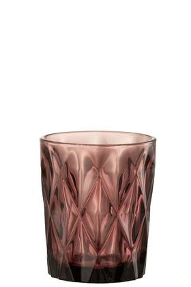 Bicchiere Mona Vetro Rosa Scuro – Jolipa